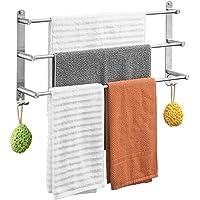 Towel rail rack roestvrij staal geborsteld 3 laags handdoek bar wandmontage bad handdoek hanger voor badkamer douche 6