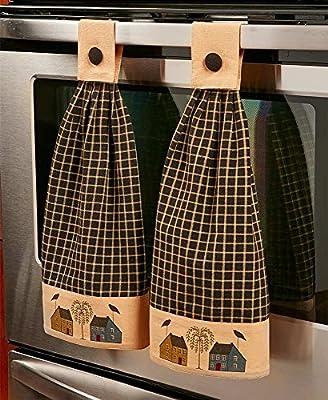 Juego de 2 para colgar toalla de cocina (primitiva