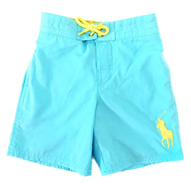 dd3ed9f2c7 Amazon.com: Polo Ralph Lauren Boys Swim Trunks (Hammond Blue): Clothing