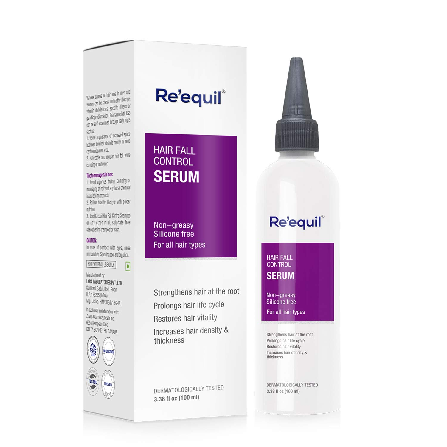 Hair Fall Control Serum   Hair Growth Serum - 100ml   Re'equil product image