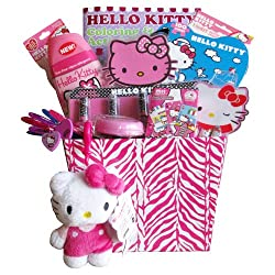Hello Kitty Toiletry Easter Gift Basket Ideal Gifts for Girls Under 8