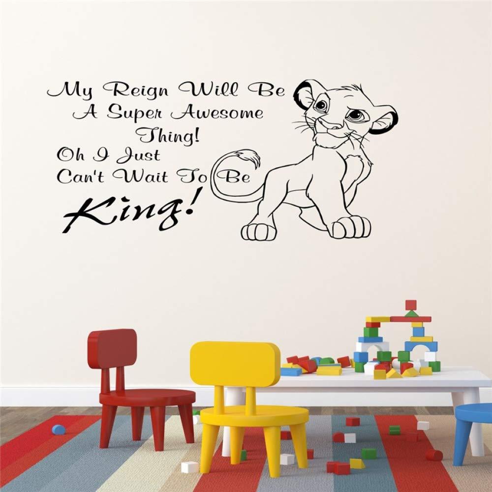 HNXDP Lion King Simba Dormitorio para niños Etiqueta de la pared ...