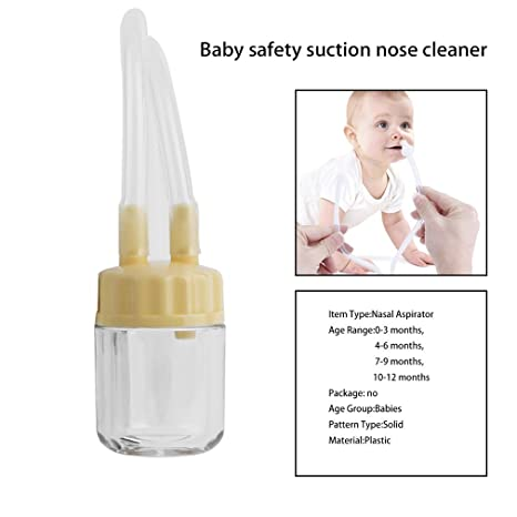 Baby Safe Nose Cleaner Vacuum Suction Nasal Mucus Runny Aspirator Inhale  FO