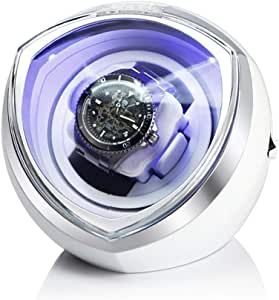 Caja giratoria para Relojes Pantalla Única Mira Enrollador For Relojes Reloj Automático Caja De Almacenamiento Caja De Caja Automática De Devanadera CG624 (Color : White): Amazon.es: Relojes