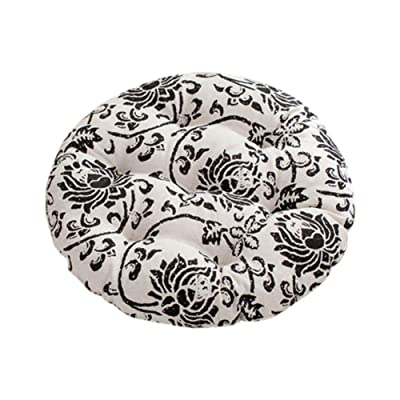 Leono Freedi Soft Creative Round Seat Cushion Breathable Stool Color Cushions Garden Patio Home Kitchen Office Chair Pad(Diameter 17 inches): Home & Kitchen