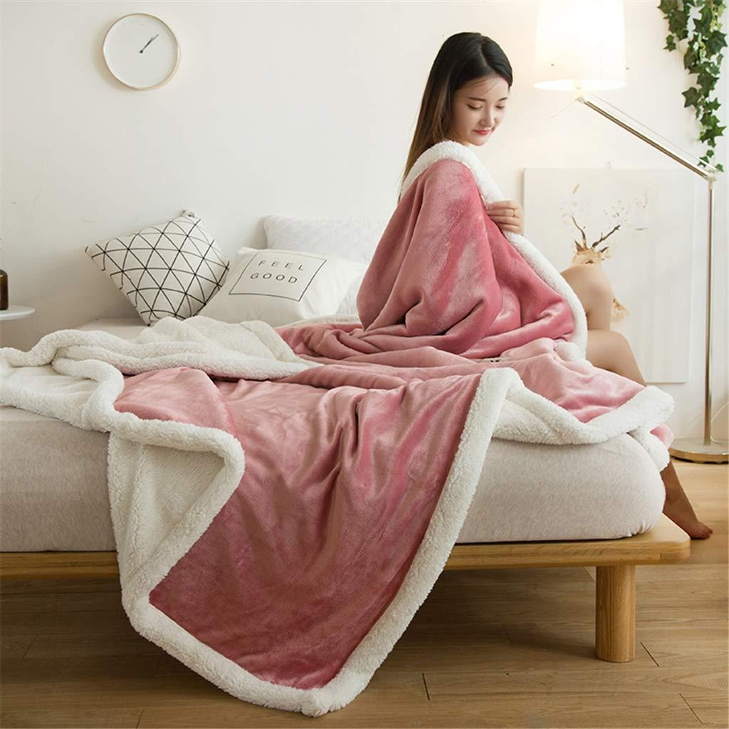 Unbekannt Flanell Decke All Seasons Rosa Decke Quilt im Bett Sofa im Auto (Farbe   Pink, größe   180x200cm(71