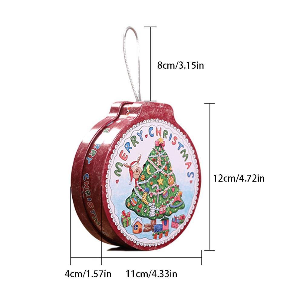 Decorazione dellalbero Besthuer Contenitore di Caramelle Tondo Contenitore di Biscotti Tondo Contenitore di Regalo per Bambini per Il Compleanno di Natale
