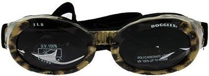 TALLA Small. Doggles DGIL-37-S ILS - Gafas de Sol para Perros, Multicolor (Leopard Print Frame/Smoke Lens), S
