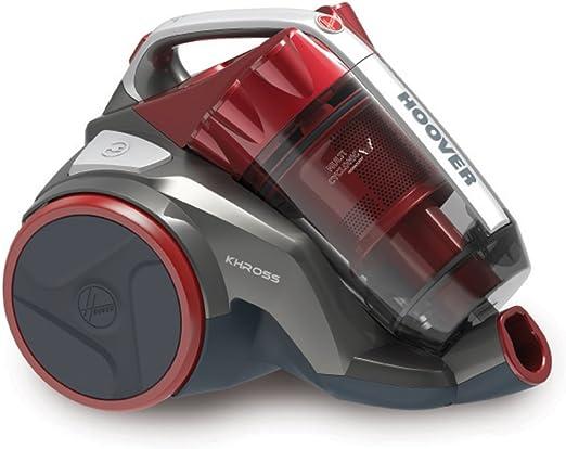 Hoover Khross KS50pet Aspirapolvere a Traino senza Sacco Compatto, Multicilonico, Classe Energetica 4A+,1.8 l, 78 decibel, Pets & Parquet, NeroRosso