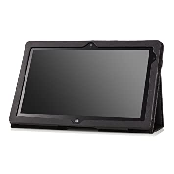 new arrivals 01aab 63a52 MoKo Slim Cover Case for Lenovo Thinkpad Tablet 2 10.1 inch Windows 8 Pro  tablet, Black (with Flip Stand, Integrated Elastic Hand Strap, Stylus Loop,  ...