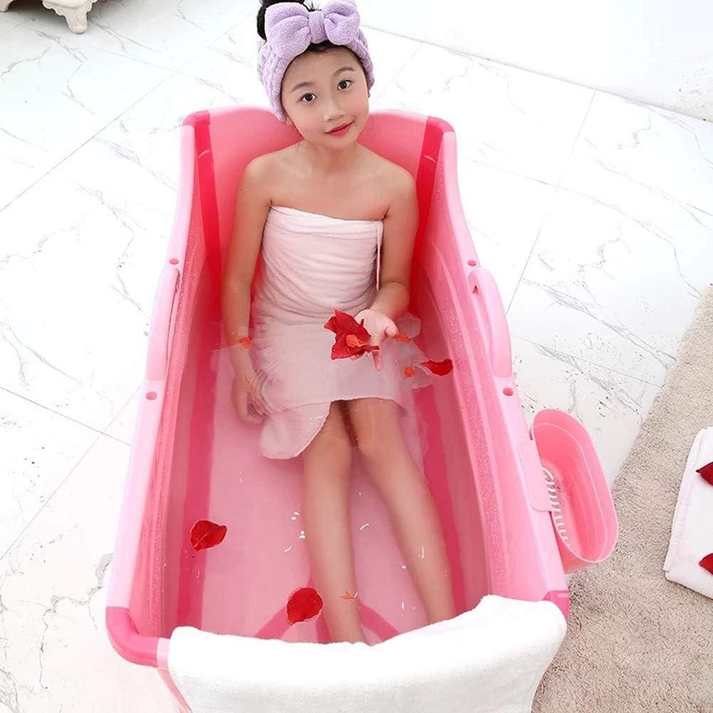 Color : Blue CHJND Thickened Adult Folding Bathtub,Plastic Baby Swimming Pool Children Bath Barrel,Household Large Portable Tub,Foldable Bathtub Tub