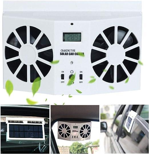 MOGOI - Ventilador de Coche de energía Solar, de Descarga de Calor ...