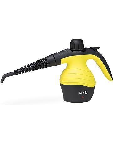 H.Koenig NV60 Limpiador A Vapor Compacto, 1000 W, plástico, Amarillo