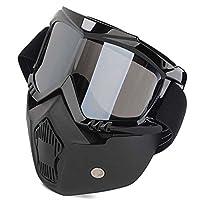 LIONEX Storm Trooper Detachable Goggles Nose Face Mask (Black)