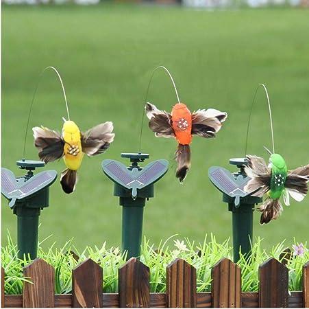 TOSSPER Hummingbird Exterior eléctrico Decoración energía Solar Bailar Flying Craft Jardín Fluttering Yard vibración Pascua Color al Azar: Amazon.es: Hogar