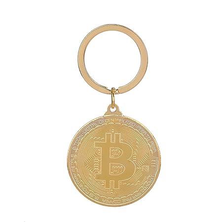 Vosarea Llavero (Metal con Colgante Bitcoin Llavero ...