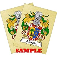 Steudeman Coat of Arms Print / Family Crest Parchment 8 1/2 X 11 Inches + Free Bonus Print