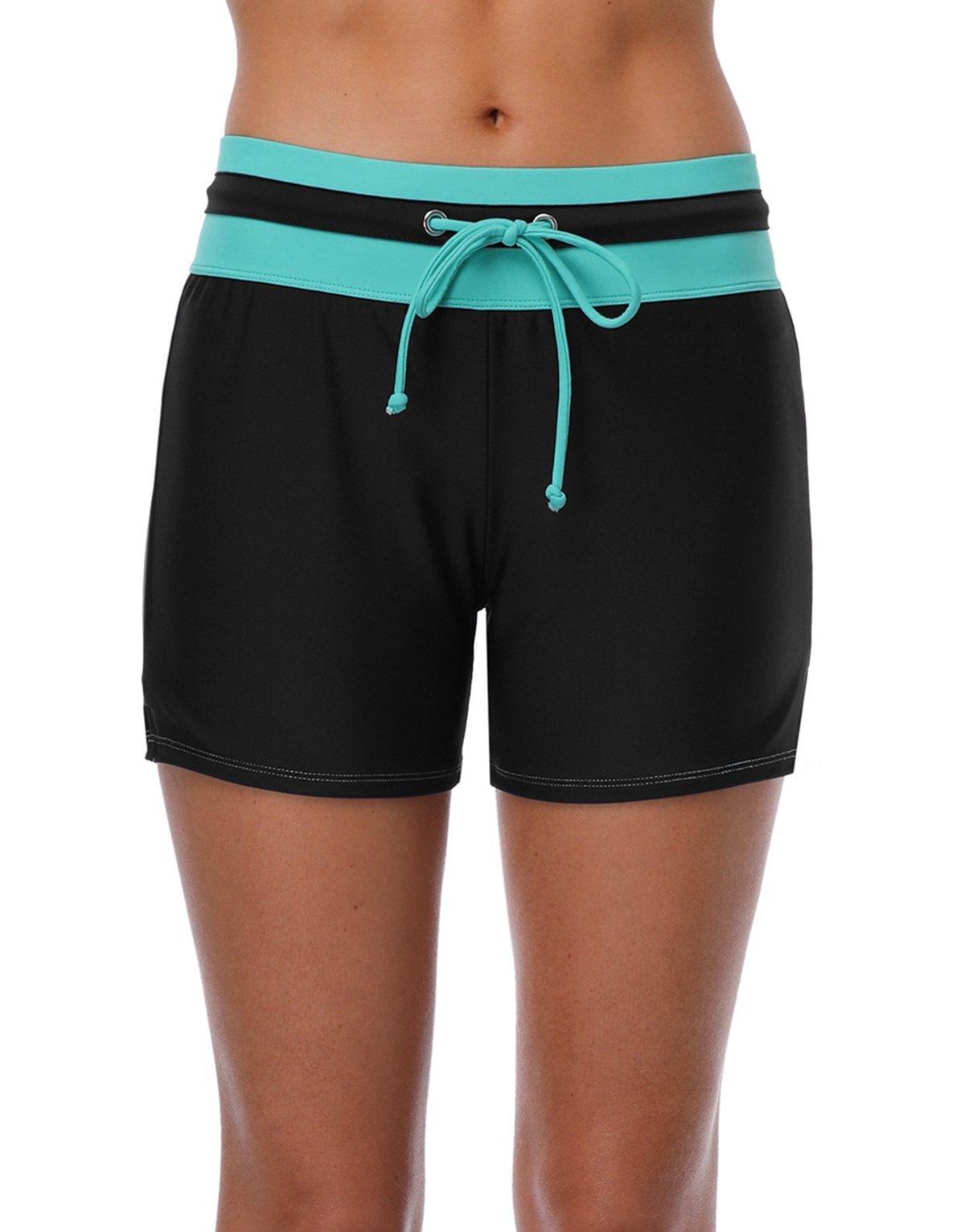 beautyin Ladies Swimming Short Board Short Boyleg Swimwear Bottoms Boardshort Swim L