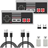 2 Pack NES Wireless Controller, AGPTEK NES Classic Controller Wireless for Nintendo Classic Mini Edition and PC,No-Wired…