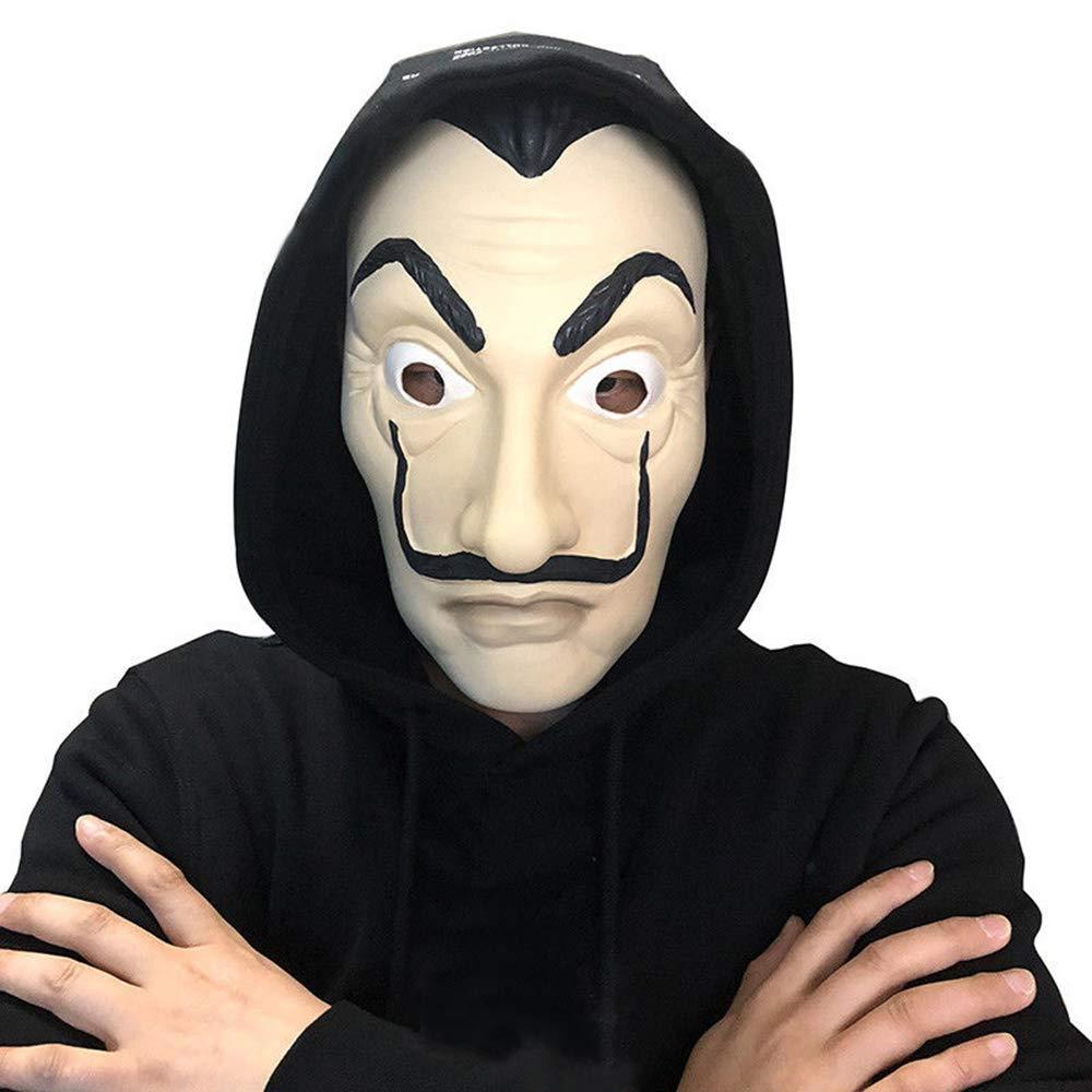 MIMINUO Máscara de látex Máscara Facial Máscara de la Cara de Apoyo Realista Novedad Cosplay Máscara de Fiesta de Disfraces
