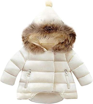 Abrigo de plum/ón para ni/ña con capucha Nemopter