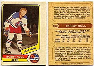 1976/77 OPC WHA Bobby Hull Card #100 Winnipeg Jets