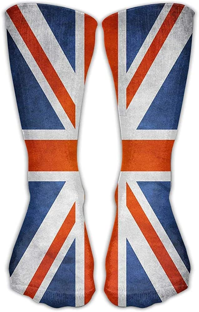 Tooyoo8 UK Flag Unisex Performance Crew Socks Protect The Wrist For Cycling Moisture Control Elastic Socks 11.8inch