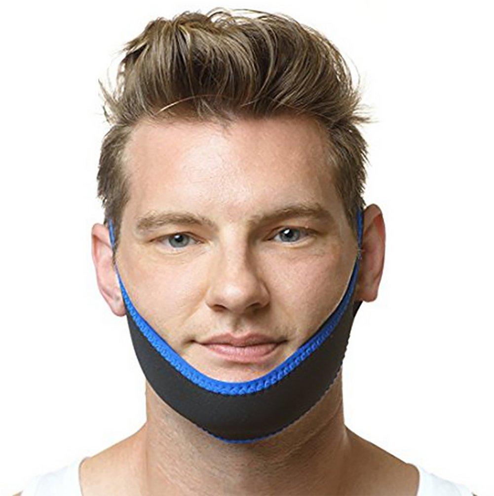 ,Blue Gesichtskorrekturgurt Stop Schnarchen Kinnriemen Justierbare Beste Schnarchen-L/ösungen