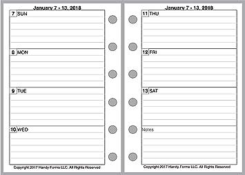 2 páginas por semana planificadores y organizadores, tamaño ...