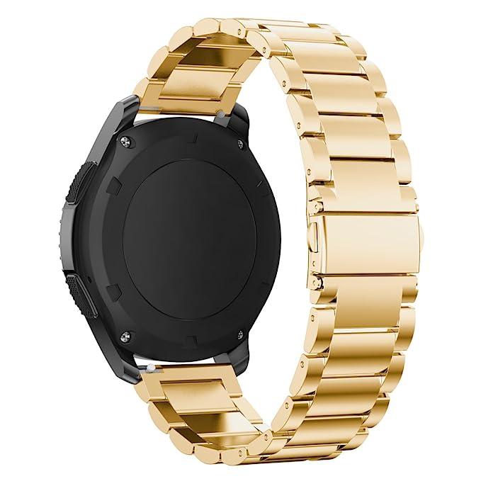 Pinhen - Correa para reloj Huawei Watch 2 Pro de 22 mm, correa de acero inoxidable y metal, correa de repuesto para Gear S3 Huawei Watch 2 Pro