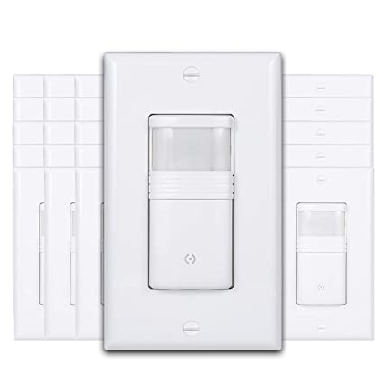 Pack of 50) White Motion Sensor Light Switch - NEUTRAL Wire Required Neutral Wire Light Switch on light at end with wire, light and fan switch wiring, light switch with only two wires, light switch wiring ceiling fan,