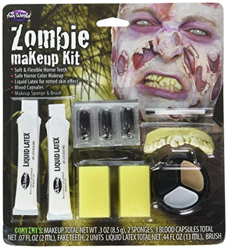 Fun World Scary Zombie Makeup Kit Standard -