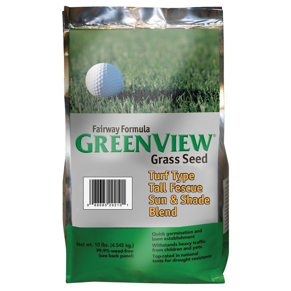 GreenView Fairway Formula Grass Seed Turf Type Tall Fescue Sun & Shade Blend, 10 lb Bag by Greenview (Image #1)