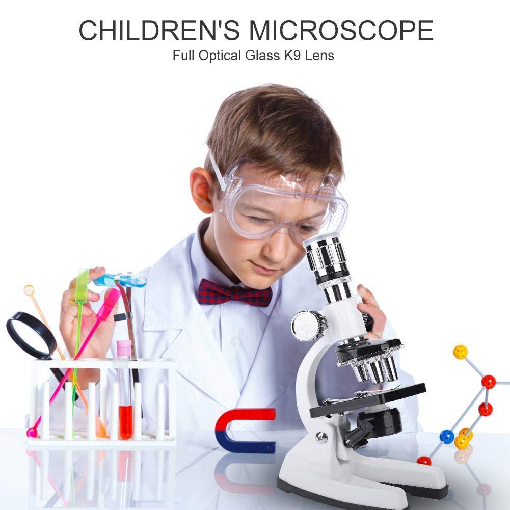 microscopio biol/ógico para Estudiantes 1200X con Conjunto de Aprendizaje para ni/ños Aprendizaje de Ciencias VGEBY1 Conjunto de microscopio