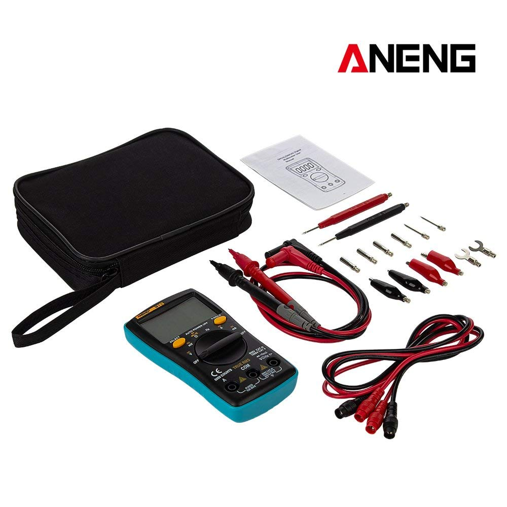 Windwinevine ANENG M10 Digital LCD Multimeter AC//DC Voltmeter Ammeter Auto Range Diode Resistence Capacitance Tester Ture RMS with line