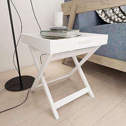Amazon Com Xajgw Metal Folding Tray End Table Armchair Slide Under