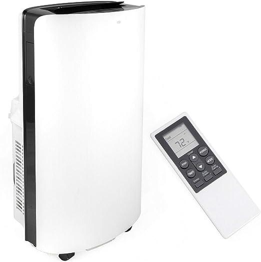 3-in-1 12000 BTU Portable Air Conditioner and Dehumidifier Remote Control White