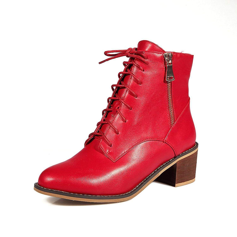 delicate Lucksender Womens Chunky Kitten Heel Chelsea Boots