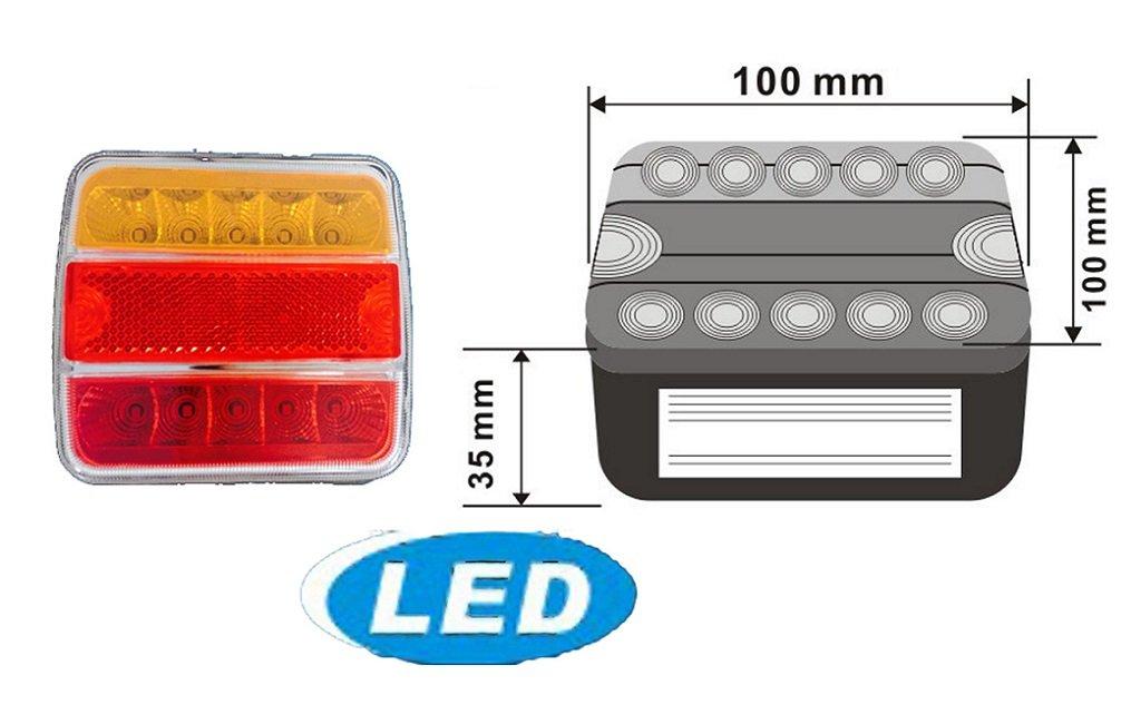 LED Licht-Kit Rückleuchten-Set Anhängerleuchte Magnet 7-Polig ...