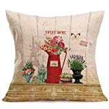 Wallpaper Illustration Simple Decoration with Home Linen Hug Pillowcase Fashion Home Decor Cotton Linen Throw Pillow Case Sofa Waist Cushion Cover by Shmei (J)