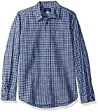 The Children's Place Big Boys' Check Oxford Shirt, Wizard Blue, XXL(16)