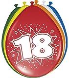 Luftballons 18. Geburtstag Party-Deko 8 Stück bunt 30cm Einheitsgröße
