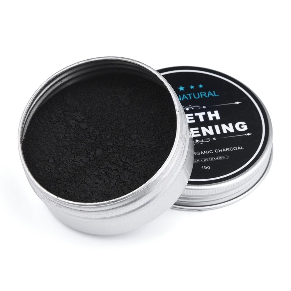 Teeth Whitening Powder, Fenleo Natural Organic Activated Charcoal Bamboo Powder 15g