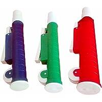 Bomba de pipeta verde, roja y azul
