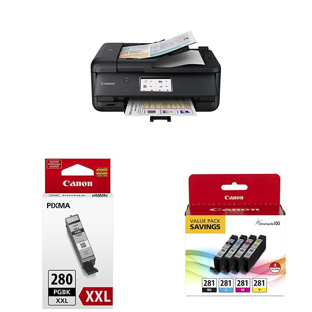 Canon PIXMA TR8520 Wireless Home Office All-In-One Printer with PGI-280XXL and CLI-281 4 Pack