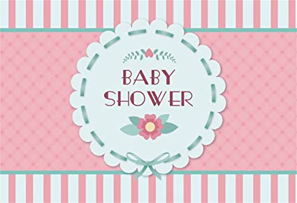 Amazon Com Laeacco Baby Shower Backdrop 5x3ft Flower Wreath