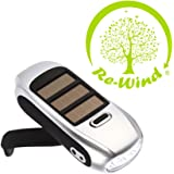 NEW Re-Wind Eco Friendly Compact Pocket Torch - Features: Wind-up Action, Rechargeable and Solar Powered, Powerful 3 LED Beam, Silver Colour - Ideal Accessory for Walking, Hiking, Camping, Festivals, Power Cuts, Car Breakdown Internal Emergency Light - Never Needs Batteries! 2 Year Worldwide Guarantee