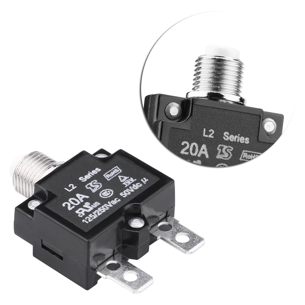 20A AC 125 Protezione da Sovracorrente 250V Resetta Interruttore Termico Interruttore Sovratemperatura Protezione per Generatore