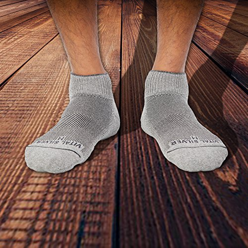 Vital Salveo- Soft Non Binding Seamless Circulation Diabetic Socks- Ankle Short (Large-3 Pairs) by Vital Silver (Image #3)
