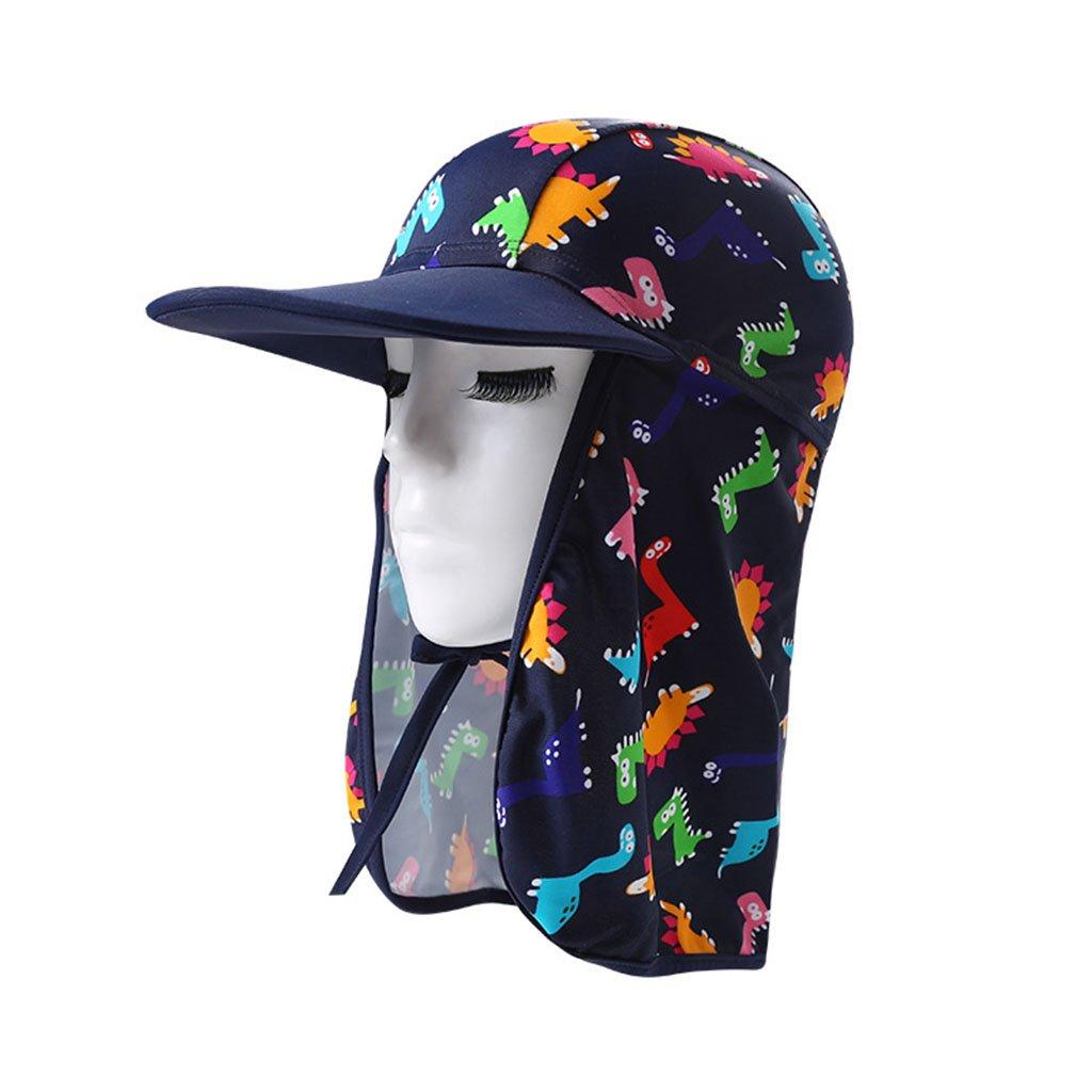 Bambini Cappello Da Sole Cuffia Da Nuoto - Berretto Per Bambini E Bambine Cappello Protezione Solare Cappello Spiaggia Estate G180309YM0103
